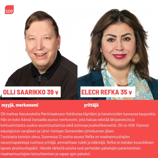 Kuntavaaliehdokkaat Olli Saarikko Ja Refka Elech